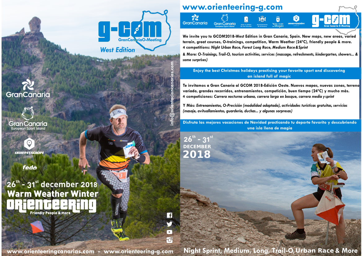 Flyer Gran Canaria O-Meeting 2018