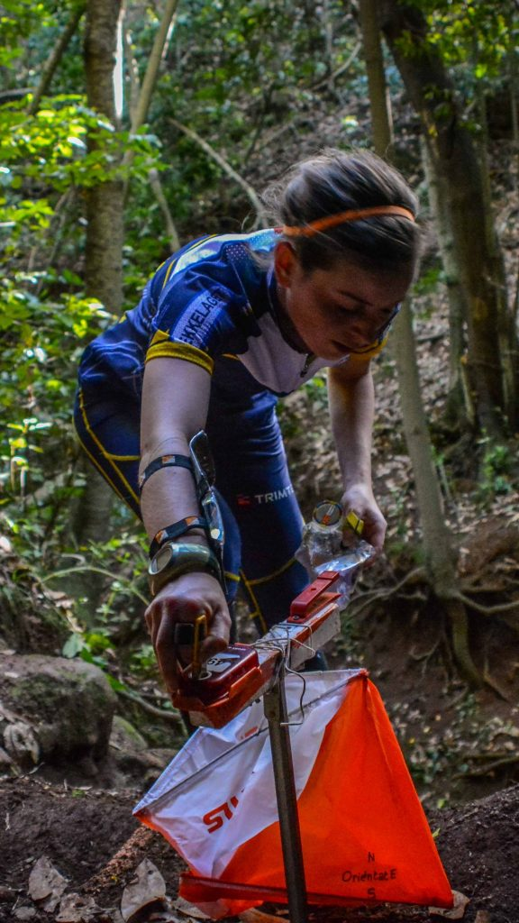 GCOM limonium Gran Canaria girl runner orienteering in the forest